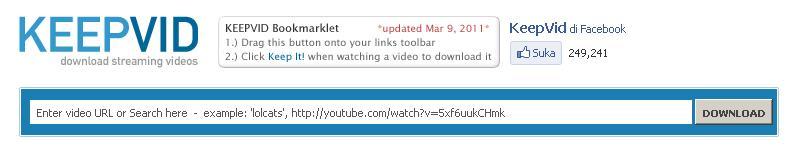 cara download youtube lewat keepvid com