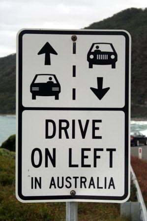 di australia mengemudi di sebelah kiri jalan