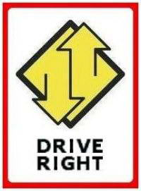 right-driving sign