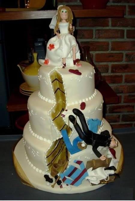 Kue tart perceraian yang lucu dan unik