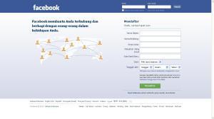 isi form untuk cara membuat facebook
