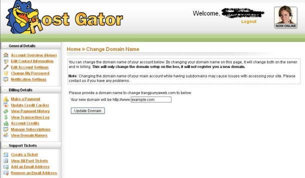 Mengganti Primary Domain Hosting di Hostgator