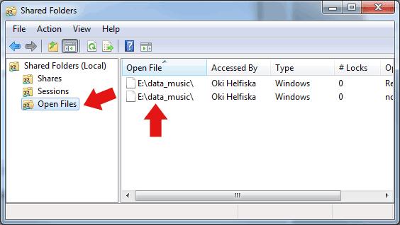 Cara Melihat Yang Membuka Folder Sharing