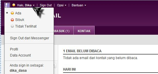 mengganti password yahoo mail