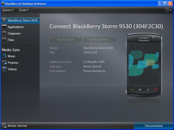 upgrade os blackberry menggunakan Blackberry Desktop Software