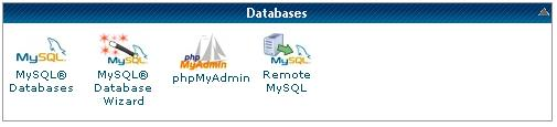 klik phpMyAdmin untuk reset password wordpress