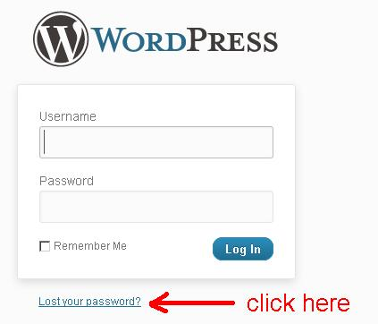 link untuk reset password wordpress