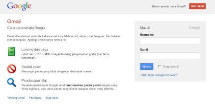 login ke gmail untuk sms gratis di internet menggunakan gmail