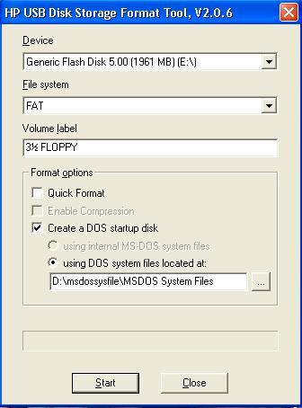 membuat USB bootable DOS