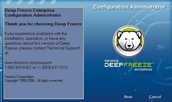 menonaktifkan deep freeze