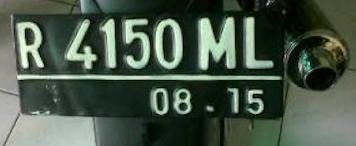 Kode Nomor polisi kendaraan disesuaikan dengan wilayah