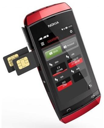 tampilan Nokia Asha 305