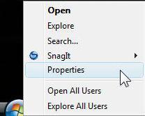 taskbar properties