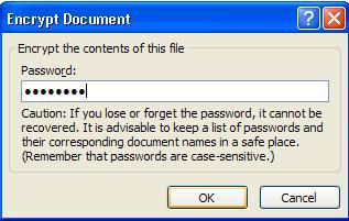 masukkan password dokumen MS word anda