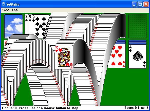 tekan alt shit 2 untuk memenangi game solitaire
