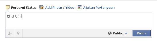 ketikkan kode seperti diatas untuk membuat status facebook kosong