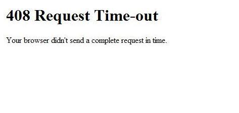pesan error saat mengakses internet