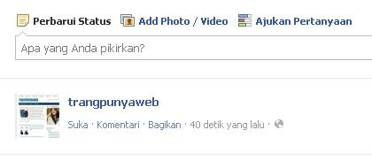 status facebook kosong