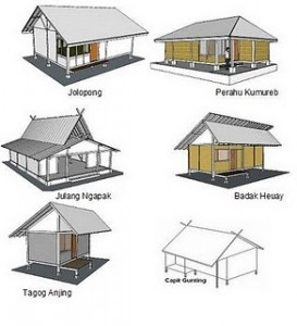 bentuk rumah adat sunda
