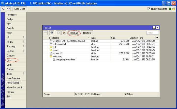 cara backup konfigurasi mikrotik