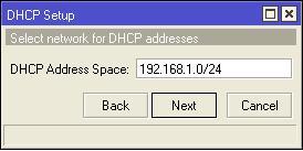 cara membuat dhcp server di mikrotik