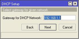 membuat ip gateway pada dhcp server