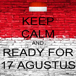 dp bbm - keep calm and ready for 17 agustus