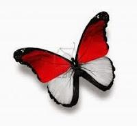 dp bbm tema 17 agustusan - kupu-kupu merah putih