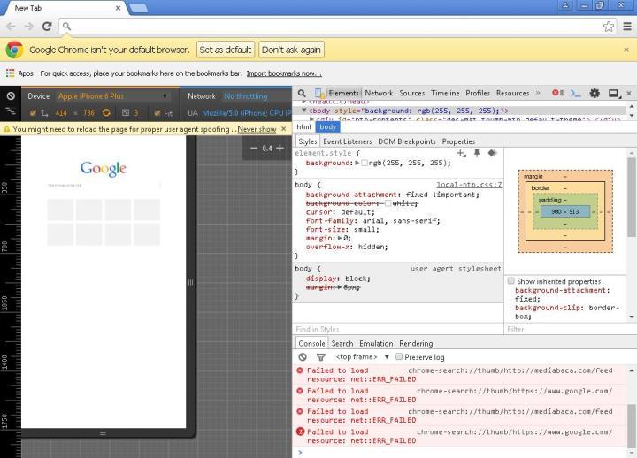 cara melihat tampilan web mobile lewat google chrome